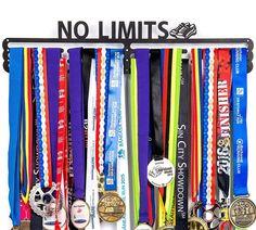 "Wall Mounted Medal Hanger Holder Display Marathon Runner Sports Home ""NO LIMITS"" #Unbranded"