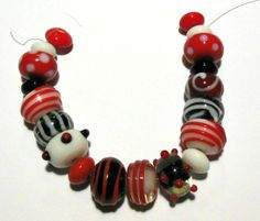 SOLD! 4PA Handmade Glass Lampwork Beads . Starting at $5 on Tophatter.com!  http://tophatter.com/auctions/34083