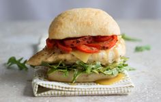 A delicious alternative to a traditional burger, this easy-to-make chicken breast sandwich is full of flavor and color. Enjoy it for lunch or dinner, with a cucumber or tomato salad on the side. more