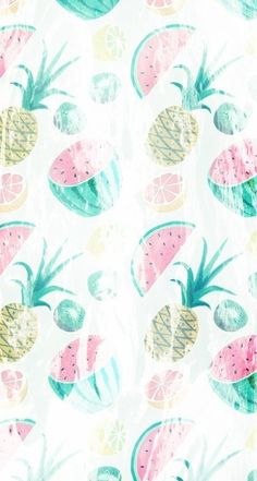 Pineapple & Watermelon ★ Find more fruity Android + iPhone wallpapers @prettywallpaper