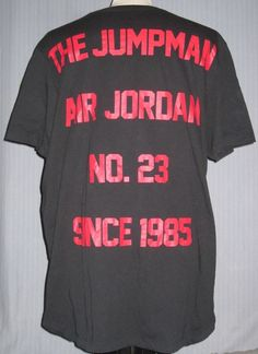 4398bd22f9f Michael Jordan Jumpman 2XL Black Red T-Shirt ( 2X XXL XX Large Air Rookie