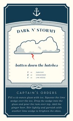 Nautical Cocktail Recipe Cards on Adweek Talent Gallery