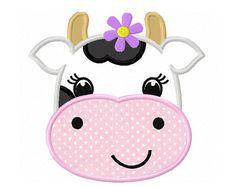 Embroidery Design CowFarm animalAnimal by CherryStitchDesign
