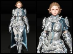 c9 팔라딘 - Google 검색 Fantasy Female Warrior, Fantasy Armor, Medieval Fantasy, 3d Character, Character Concept, Character Design, High Elf, Female Fighter, Suit Of Armor