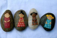 DIY little people story stones