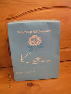 Vintage KOTEX unopened Box of 24 sanitary napkins pads VERY COOL 1970 drug store