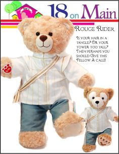 18 On Main Bear E. Charming Prince Plush Toy Clothes Pattern 15 to 18 inch Build-A-Bear Bears Doll Clothes Patterns, Pdf Sewing Patterns, Clothing Patterns, Sewing Ideas, Suit Pattern, Plush Pattern, Build A Bear Store, Build A Bear Outfits, Duffy The Disney Bear