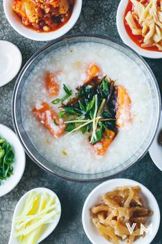 Our Vegan Taiwanese Congee with Sweet Potato is a frugal, comforting and nourishing dish. Congee is common throughout Asia and often enjoyed at breakfast. Veggie Recipes, Gourmet Recipes, Asian Recipes, Soup Recipes, Healthy Recipes, Ethnic Recipes, Asian Foods, Vegetarian Recipes, Gourmet Breakfast