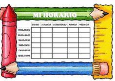 horarios y marcos para word