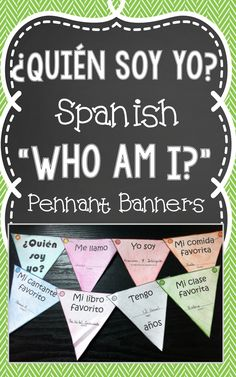 Create Spanish pennant banners for students to share about themselves and get to know each other.