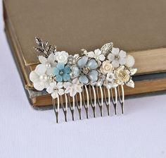 FREE SHIPPING Bridal Hair Comb Wedding Hair by lonkoosh on Etsy