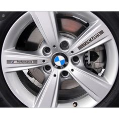 Auto Vinyl M Power Wheel Hub Transparent Decals Car Sticker For - Bmw decals for wheels