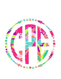 Lilly Arrow Monogram Decal for Yeti's, Cars, Laptops, and More! Lilly Monogram…