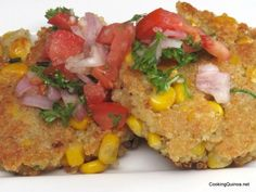 Quinoa Corn Cake (subbing in gluten-free flour/breadcrumbs) Gluten Free Cooking, Cooking Recipes, Healthy Recipes, Healthy Meals, Yummy Recipes, Quinoa Flour Recipes, Vegetable Cake, Clean Eating, Healthy Eating