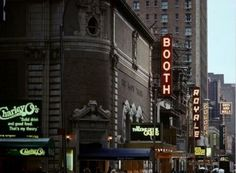 Broadway marquee The Twilight of the Golds (Booth Theatre) The Kentucky Cycle (Royale Theatre) Guys and Dolls revival (Martin Beck Theatre)