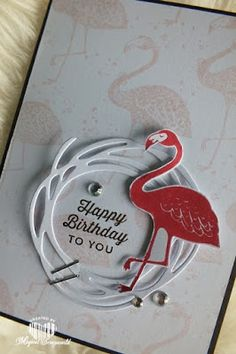 Magical Scrapworld: Happy birthday to you flamingo | Pop of Paradise, Swirly Scribbles, Sunburst Sayings