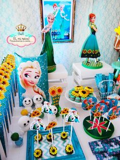 Frozen Fever birthday party! See more party planning ideas at CatchMyParty.com!