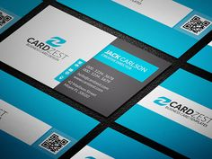 Modern Blue Corporate Business Card Template  Designing