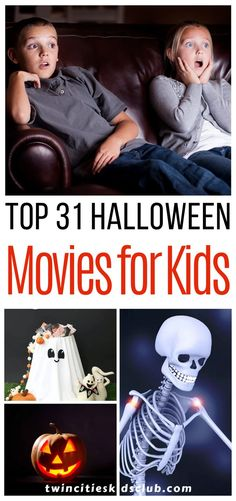 Twin Cities Kids Club Blogs: Top 31 Halloween Movies for Kids (2017) - Halloween through the eyes of a child is thrilling. So why enjoy just one day of Halloween fun? Why not make it a month of Halloween packed entertainment? Check out these top 31 Halloween movies for kids. Whether you do movie marathon weekends for the whole month or watch one each day, you are sure to make some great family memories. | Halloween | Halloween Fun | Kids Movies | Kids | Kids Fun Top Halloween Movies, Halloween Kids, Best Kid Movies, Cool Kids, Kids Fun, Movie Marathon, Twin Cities, Family Memories, Kids And Parenting