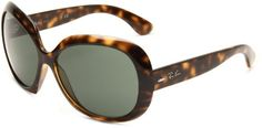 Ray-Ban Women's RB4098 Non-Polarized Jackie OHH II Sunglasses,Tortoise Frame/Green Solid Lens,60 mm Ray-Ban,http://www.amazon.com/dp/B001AQJ0AO/ref=cm_sw_r_pi_dp_58Frsb16119F8Q1V