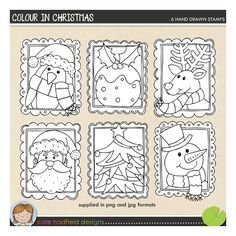 Colour in Christmas http://the-lilypad.com/store/DIGITAL-STAMPS-Colour-in-Christmas.html