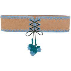 Strawberry Tassel Belt ❤ liked on Polyvore featuring accessories, belts, tassel belt, macrame belt, crochet belt and velvet belt