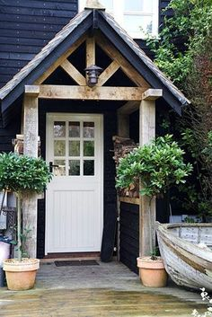 Front door and wooden porch : door porch - Pezcame.Com