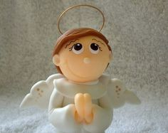 Anjo da Guarda - 8 cm de altura  http://www.elo7.com.br/atelierclaudiaaparecida