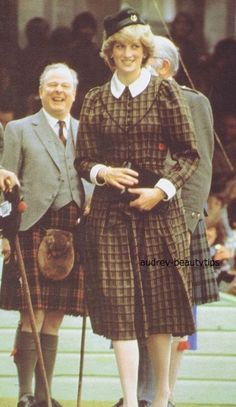 September 4, 1982: Princess Diana arriving at the Braemer Games, Scotland.