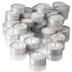 80 Pcs Unscented Tealight Candle White Tea Light Candles for Wedding Party LOT ** Want to know more, click on the image. #AromatherapyCandles