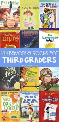 Favorite Third Grade Books These books are perfect for third graders and third grade classrooms! I use them for the classroom library, read alouds and for book clubs during guided reading groups!Grade Grade or grading may refer to: Third Grade Books, Third Grade Reading, Guided Reading Groups, Kids Reading, Reading Library, Reading Centers, Reading Lists, Library Art, Reading Response