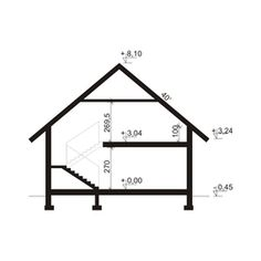 Description House with attic, intended for family.On the ground floor there is a spacious living room open to the. 2bhk House Plan, Construction Cost, Loft Room, Spacious Living Room, Ground Floor, Architecture Details, Drafting Desk, Wardrobe Rack, Concrete