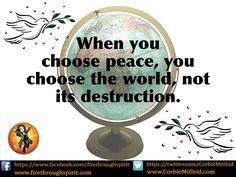 Choose #peace #InspirationalQuotes