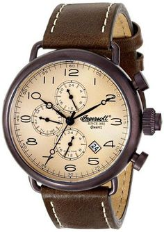 Ingersoll Balfour iNQ009KHBR Men's Watch Brown Stainless Steel Case With Brown Leather Strap