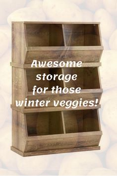 I love these stackable storage bins with a driftwood look. They're perfect for storing potatoes, sweet potatoes, pumpkins or anything else grown in your garden that can be stored in a cool, dry place. These Nantucket stacking storage bins are a must-have for the pantry, playroom or entryway - they are that versatile! Order yours now! #ad #cropstorage #storingcrops #potatostorage #coldstorage #garden #gardening #fallgardening #wintergardening Potato Storage, Storage Bins, Food Storage, Storing Potatoes, How To Store Potatoes, Potato Bin, Vegetable Bin, Homestead Farm, Growing Veggies