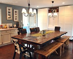 Rustic Cedar Dining room table with chairs | More Than Wood ...