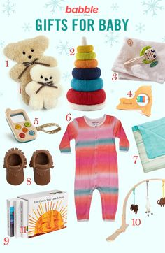 These gifts are so cute for a baby!