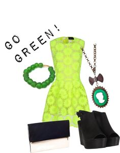 """Going, GREEN!"" by heartsdotcom on Polyvore"