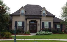 LOUISIANA HOUSE PLANS Townsend Homes, French Chateau, Exterior House Colors, French Country House, House Plans, Mansions, House Styles, Louisiana, Building