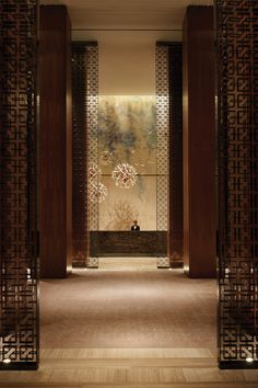 The dandelion installation by Alissa Coe at the main reception desk of Four Seasons Hotel Toronto.