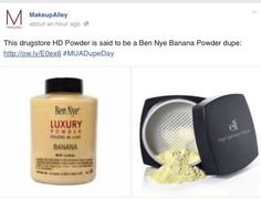 &&&& just like that i have found the dupe! (Elf dupe for Ben NYE Banana Powder)