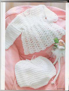 """"""" MOSSITA BELLA PATRONES Y GRÁFICOS CROCHET """": Vestido y Bombachos a Crochet..."""