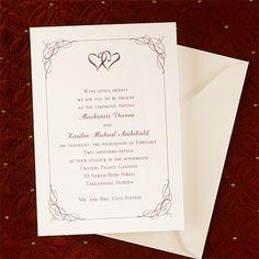 United Hearts - #Invitation - #Ecru weddingneeds.carlsoncraft.com