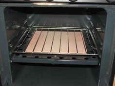 Ceramic tile to distribute heat evenly in the rv oven.