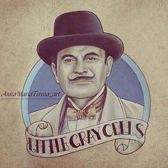 Hercule Poirot impression d'Art. par AnnaMariaTeresa sur Etsy
