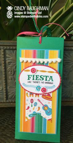"Fiesta Bunco Aloha Prize - www.stampedwithaloha.com - SU - ""Birthday Fiesta"" stamp set"