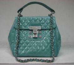 Chanel Patent Leather Handbag Green 35861
