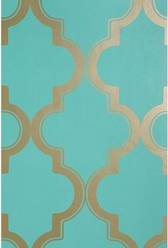 Urban Outfitters Marrakesh Honey Wallpaper, my new favorite print: teal and gold Gold Wallpaper, Iphone Wallpaper, Turquoise Wallpaper, Bedroom Wallpaper, Adhesive Wallpaper, Moroccan Wallpaper, Pattern Wallpaper, Graphic Wallpaper, Wallpaper Ideas
