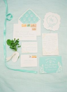 Wedding Invitations & Colors | See the inspiration shoot on #SMP Weddings: http://www.stylemepretty.com/2012/12/11/southern-grace-styled-shoot-from-elisa-b-photography/ Elisa B Photography
