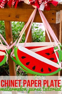 DIY Watermelon Purse Tutorial & Free Download by Lindi Haws of Love The Day